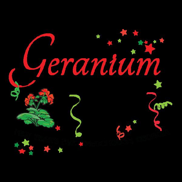 new years eve geranium drop, mcdonough ga