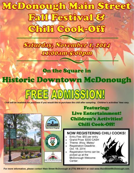 Fall Festival & Chili Cook Off 2014 | McDonough, GA