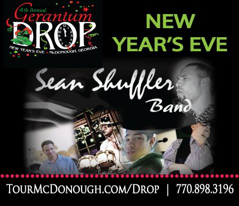 New Year's Eve Geranium Drop | McDonough, GA