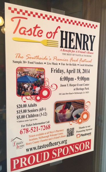 Taste of Henry 2014, A Friend's House fundraiser